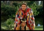 Fletcher in Daniel Boone in feather cape