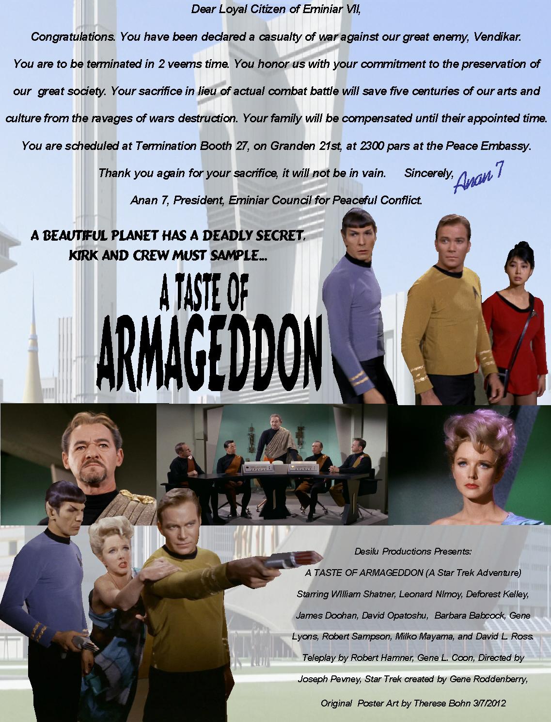 Star Trek a Taste of Armageddon