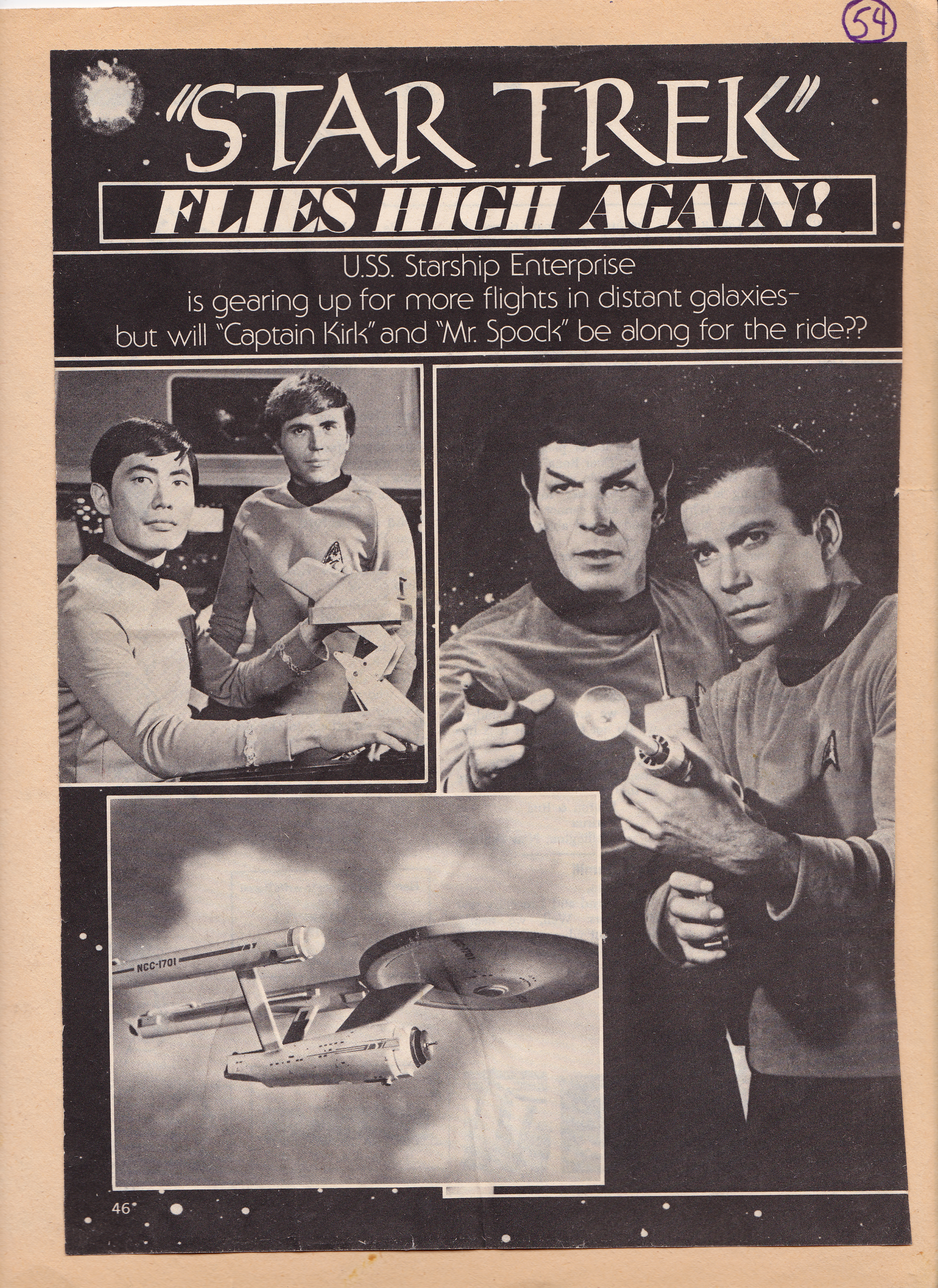 How to scrapbook magazine articles - Here S Today S Flashback A Four Page Article From A 1977 Movie Magazine Probably Tv Radio Mirror Raving About The Star Trek Revival
