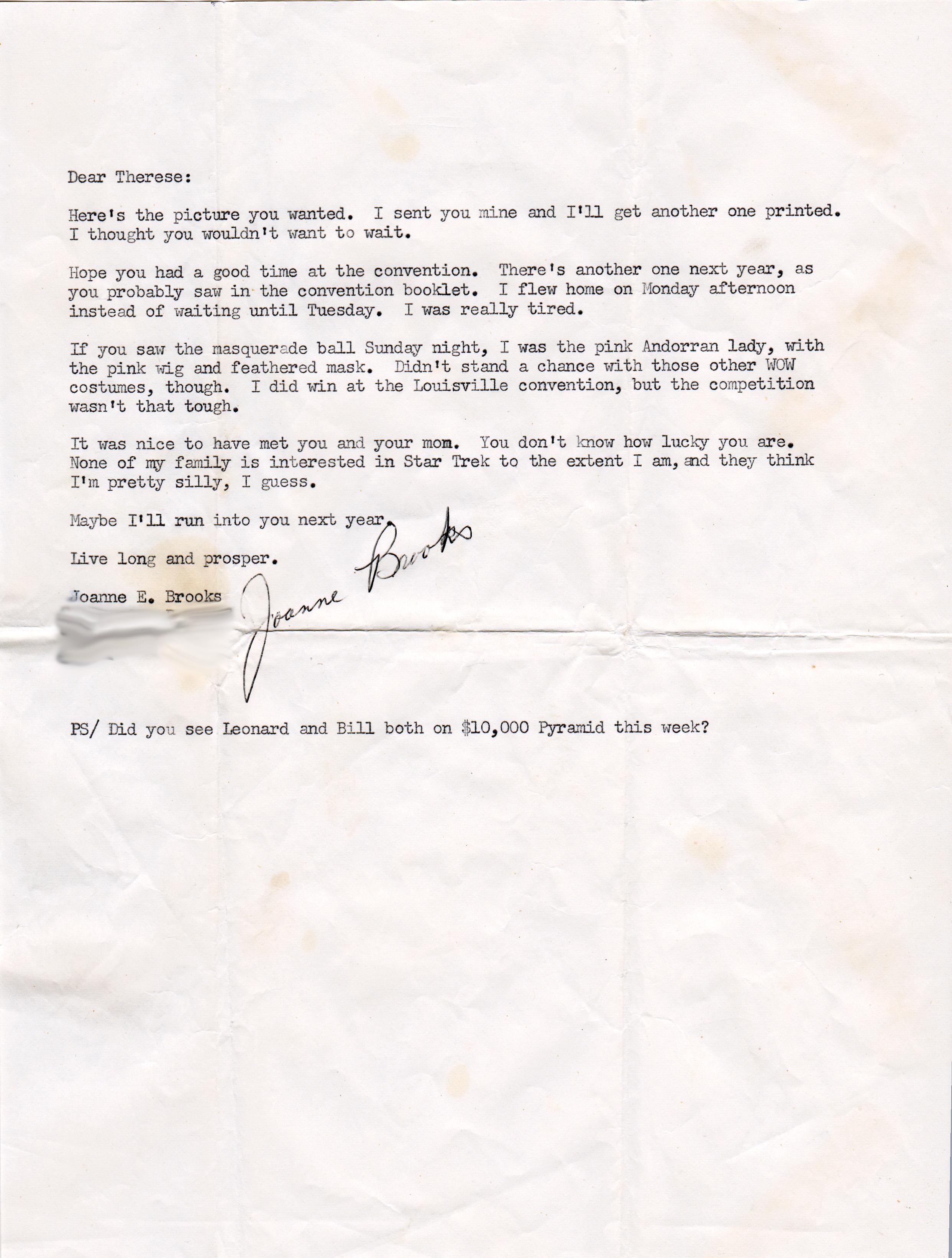 Letter from Trek Fan Joanne 02 copy