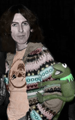 Colorized George and Kermit