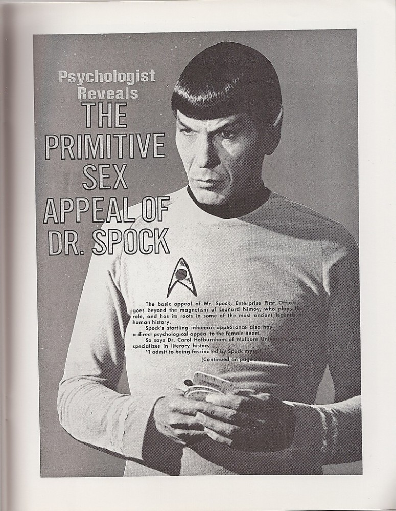 My Weekly Spock 2/18/12  The Primitive Sex Appeal of DR. Spock--Corrected!  (1/3)