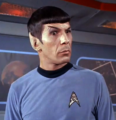 Extra high  Spock brow Part I from The Squire of Gothos