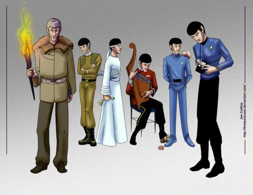Spock_Through_the_Ages_by_TheDyeIsCast