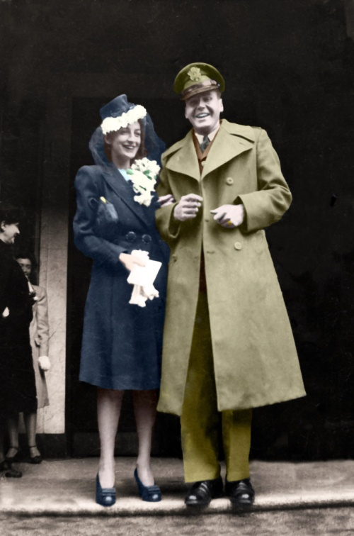 Anna+Bill Wedding 1943 tinted copy - Copy
