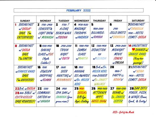 Jim Kirks Gal-A-Day Calendar