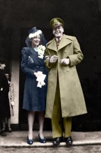 Anna+Bill Wedding 1943 tinted copy - Copy