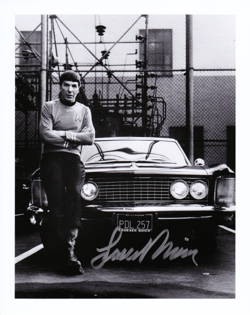My autographed pic of Leonard + his Buick