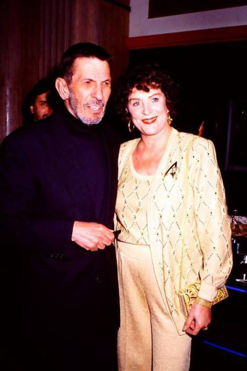 Aww! Leonard and Majel in the 1990's