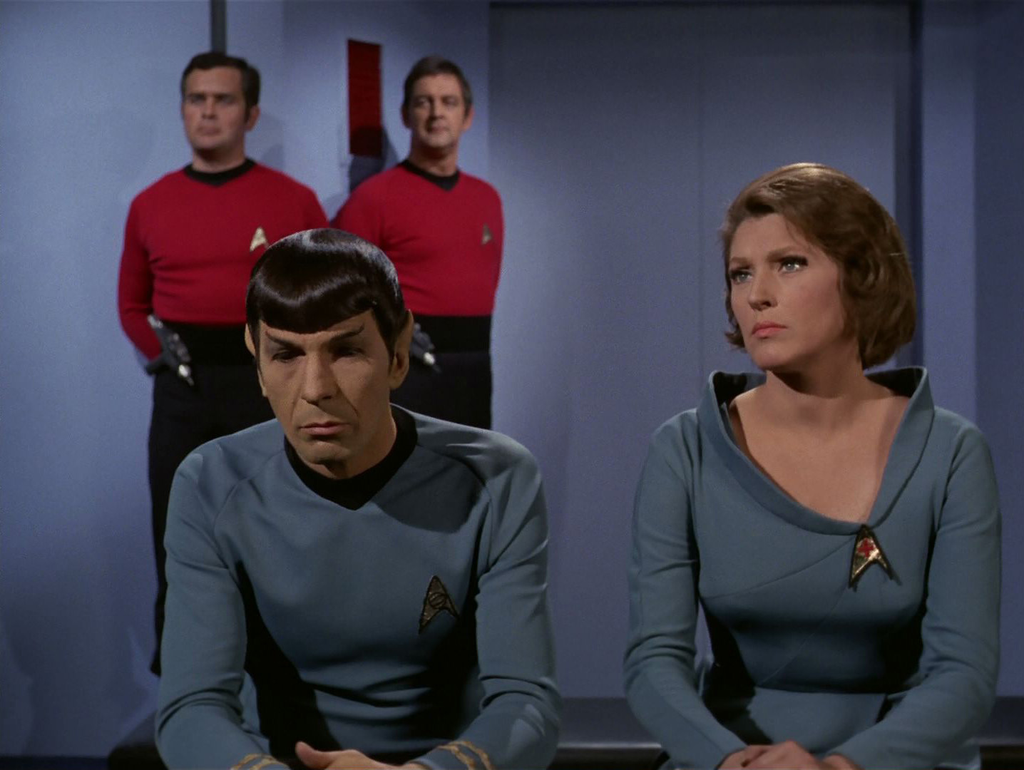 One more time! The last time we see Spock and Chapel together in 'Turnabout Intruder'