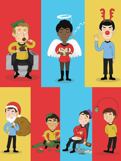 star trek christmas cards