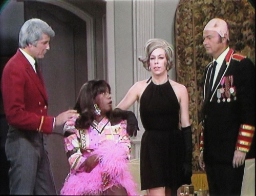 Lyle Waggoner, Flip Wilson, Carol Burnet, and Harvey Korman skewer Mission: Impossible on one of the 'lost' episodes of The Carol Burnett Show.