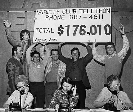 Undated photo of Leonard Nimoy at the Variety Club Telethon . ( circa 1969 -1975) Ross Kenward / The Province [PNG Merlin Archive]