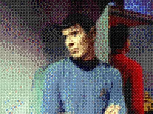 Spock Smirk mudds women x-stitch