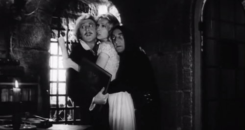 Gene with Teri Garr and Marty Feldman in 'Young Frankenstein'