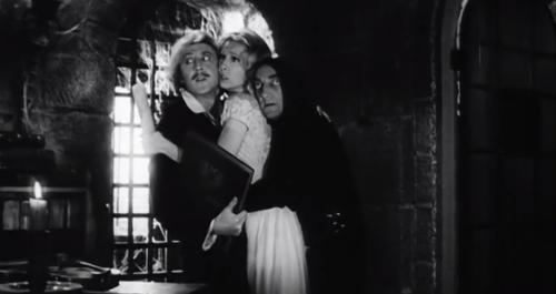 Gene with Teri Garr and Marty Feldman in 'Young Frankenstein'