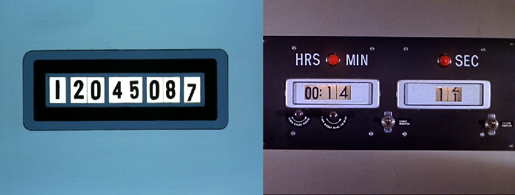 "Digital time panel in ""The Counter-Clock Incident"" and ""The Naked Time"""
