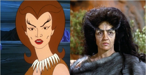 "Eyebrow City - Lara from 'The Jihad' and Zora from ""The Savage Curtain"""